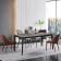 意式极简岩板餐桌椅1.4m一桌四椅 两红棕两灰ZACZY-007-1400 ZACZY-007-2