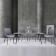 现代简约 岩板餐桌椅 ZACZY-012-1400 05# 1.4m一桌四椅