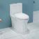 安华 新卫浴四件套餐 (浴室柜 N2D80G10-N+龙头 N11M980CP+马桶 aB1367+花洒 N3S990CP)