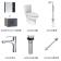 箭牌 新卫浴四件套(浴室柜 ADGMD7G3237-F+龙头 AF4102+马桶 AG1003+花洒 AG3306)