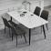 极简风岩板餐桌椅  HGCZY001-1 05# 大花白-zayx