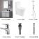 尚高卫浴 新卫浴四件套(浴室柜 SGSY1080+龙头 ST1541CW+马桶 SOL8015+花洒 ST9801C-3)
