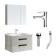箭牌 卫浴套餐两件套 浴室柜ADGMD8G3238-5+龙头AF4102
